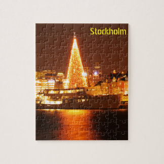Stockholm, Sweden at Christmas at night Jigsaw Puzzle
