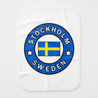 Stockholm Sweden Burp Cloth