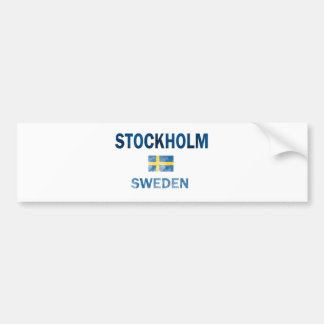 Stockholm Sweden Designs Bumper Sticker