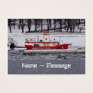 Stockholm Sweden Lightship Biskopsudden Business Card