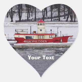 Stockholm Sweden Lightship Biskopsudden Heart Sticker