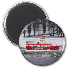 Stockholm Sweden Lightship Biskopsudden Magnet at Zazzle