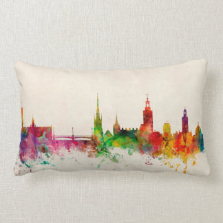 Stockholm Sweden Skyline Pillow