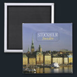 """Stockholm Sweden Travel Photo Fridge Magnet<br><div class=""""desc"""">Tip: dated magnets are a fun way to keep a chronology of your travels and Zazzle makes it easy to add a date.</div>"""