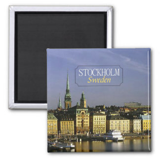 Stockholm Sweden Travel Photo Fridge Magnet