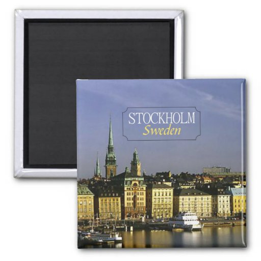 Stockholm Sweden Travel Photo Fridge Magnet