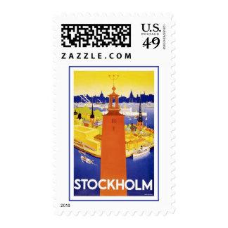 Stockholm Sweden Vintage Travel Postage Stamps
