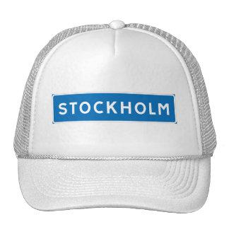 Stockholm, Swedish road sign Trucker Hat