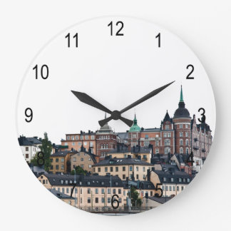Stockholm view large clock