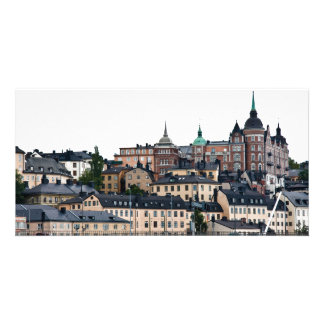 Stockholm view customized photo card