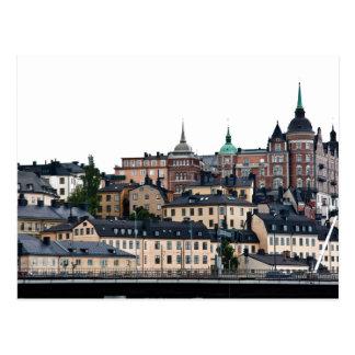 Stockholm view postcard