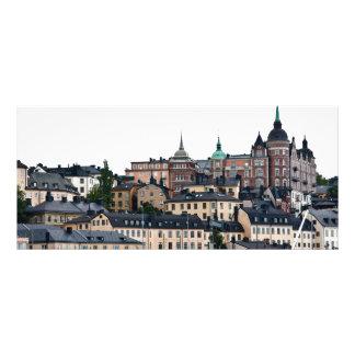 Stockholm view full color rack card