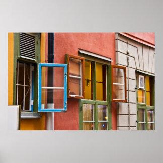 Stockholm Windows Poster
