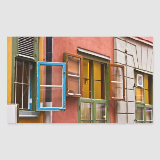 Stockholm Windows Rectangular Sticker