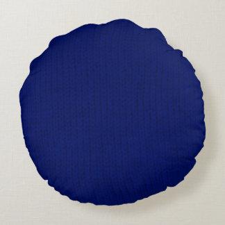 Stockinette azul cojín redondo