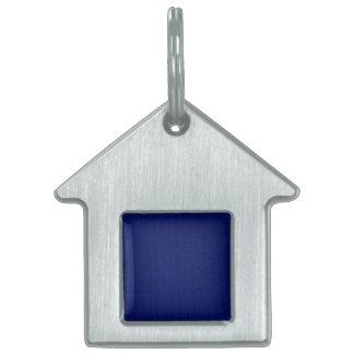 Stockinette azul placas de mascota