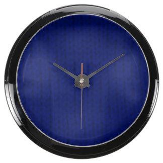 Stockinette azul relojes aqua clock