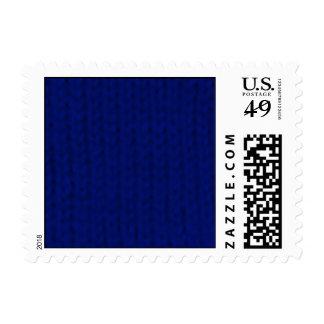 Stockinette azul sello