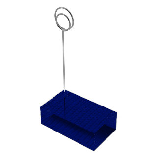 Stockinette azul soporte de tarjeta de mesa