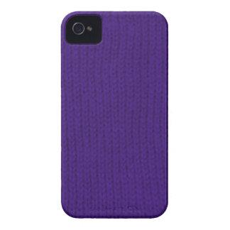 Stockinette púrpura iPhone 4 cárcasa