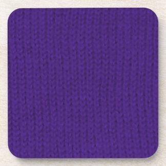 Stockinette púrpura posavasos