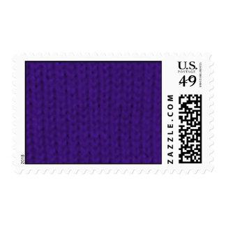 Stockinette púrpura franqueo