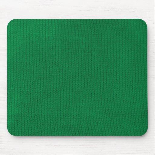 Stockinette verde Mousepad