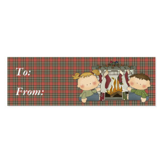 stocking are hung xmas tots business card