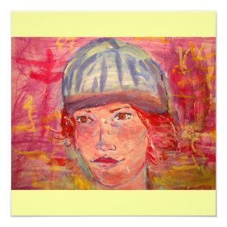 stocking hat girl card