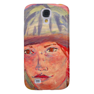 stocking hat girl galaxy s4 cases