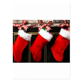 stocking of joy postcard
