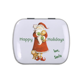 Stocking Stuffer Candy Tin from Santa and his Cats