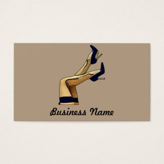 Stockings and Blue Stiletto Heels Business Card