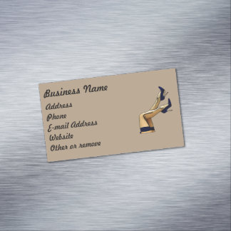 Stockings and Blue Stiletto Heels Magnetic Business Card