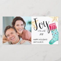 Stockings and Stars Holiday Photo Card.