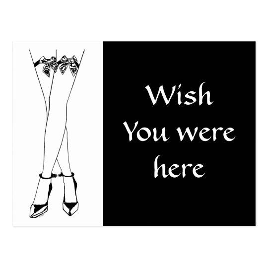 Stockings Bows & Cuffs Postcard