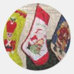 stockings classic round sticker