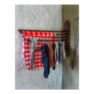 Stockings Hanging to Dry Poster