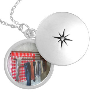 Stockings Hanging to Dry Round Locket Necklace