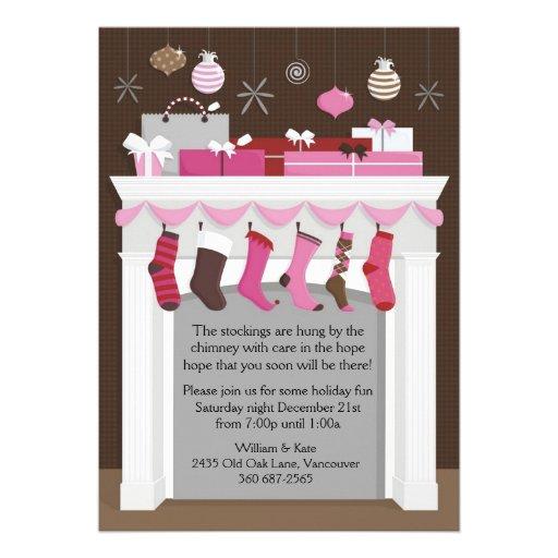 Stockings Hung Custom Invitation
