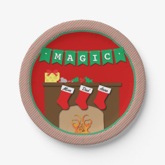 Stockings Were Hung by Chimney • 3 Stockings Paper Plate