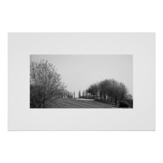 Stockley black and white golf course poster