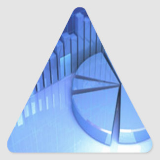 StockMarketChart Pegatina Triangular