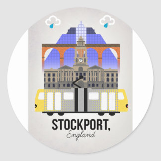 Stockport Classic Round Sticker