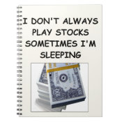 stocks spiral notebook