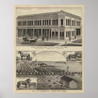Stockton Beavers Farm, Kansas Print