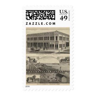 Stockton Beavers la granja, Kansas Timbres Postales