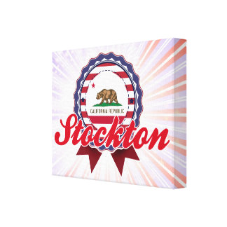Stockton, CA Impresion De Lienzo