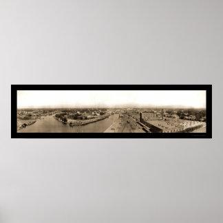 Stockton CA Riverview Photo 1909 Print