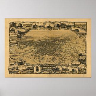Stockton California 1895 Panoramic Map Poster